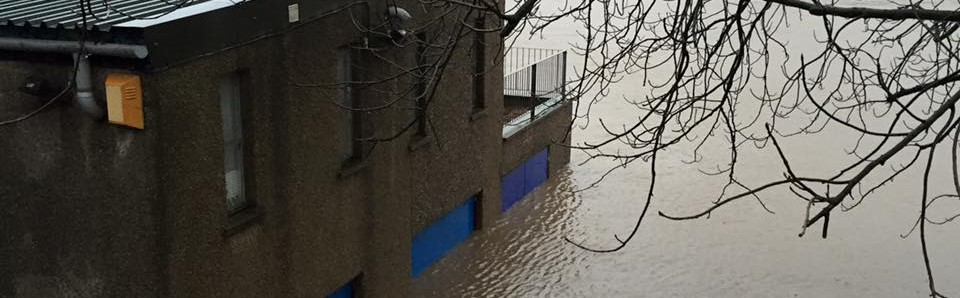 Boat House Damaged By Floods